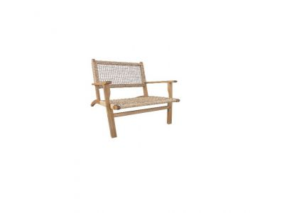 Woven chair with armrest  O194